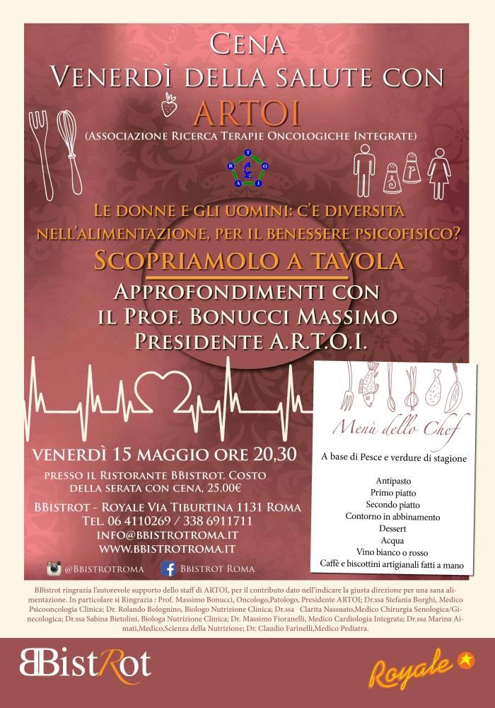 """Cena """"venerdì della salute con ARTOI"""" Roma 15 Maggio 2015"""