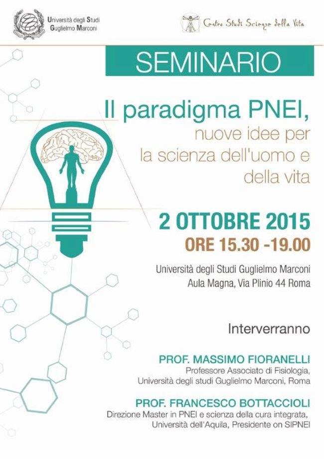 """Seminario """"il paradigma PNEI"""" – Roma: 02/10/2015"""